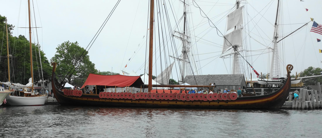 Picture side view of Viking ship