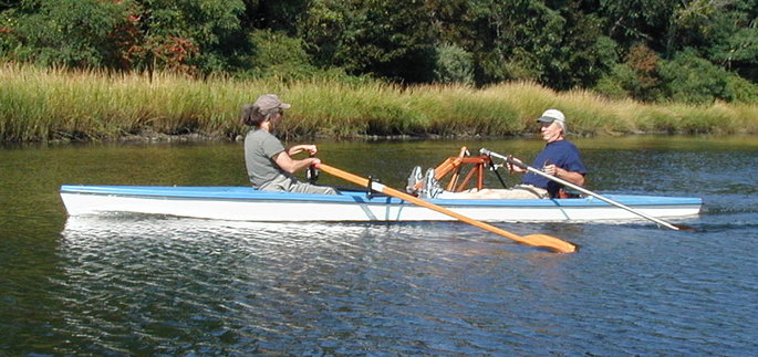 Picture of hybrid rowing (rear facing and forward facing).